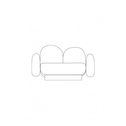 1-seat-sofa with 2 armrests senales grey Destroyers Builders