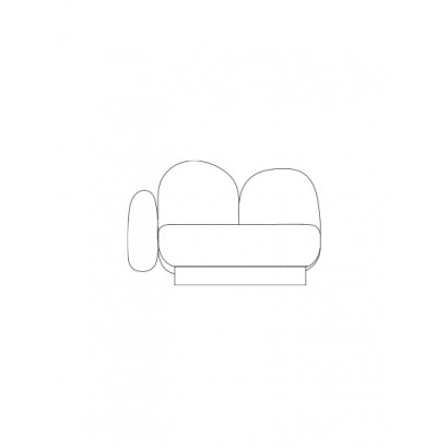 1-seat-sofa with 1 armrest left gijon green Destroyers Builders