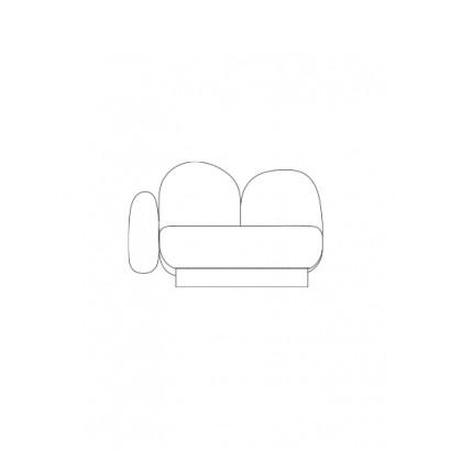 1-seat-sofa with 1 armrest left bangar sand Destroyers Builders