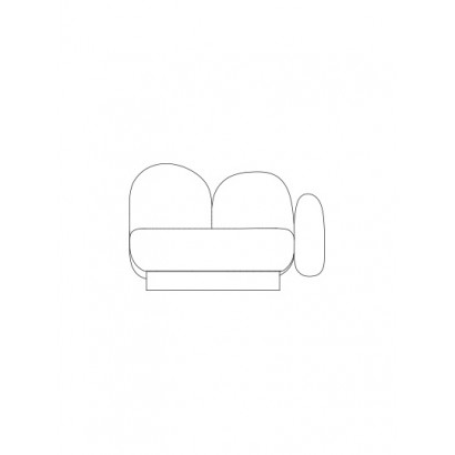 1-seat-sofa with 1 armrest right senales grey Destroyers Builders