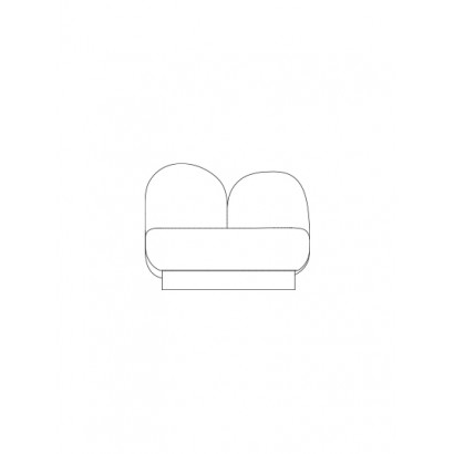 1-seat-sofa without armrest gijon green Destroyers Builders