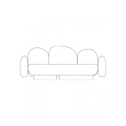 2-seat-sofa with 2 armrests senales grey Destroyers Builders