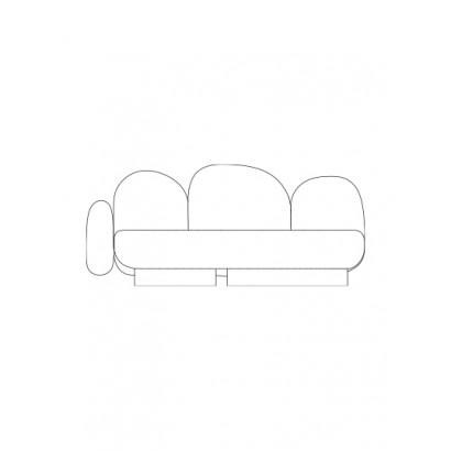 2-seat-sofa with 1 armrest left senales grey Destroyers Builders