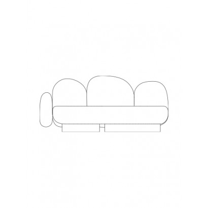 2-seat-sofa with 1 armrest left gijon green Destroyers Builders