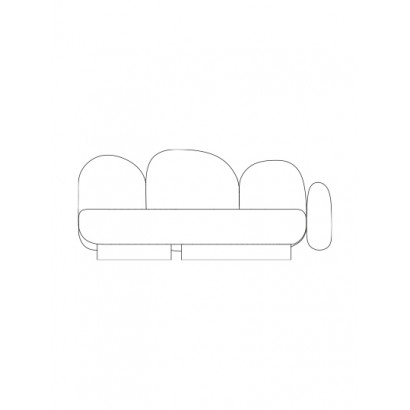 2-seat-sofa with 1 armrest right senales grey Destroyers Builders