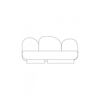 2-seat-sofa without armrest bangar sand Destroyers Builders