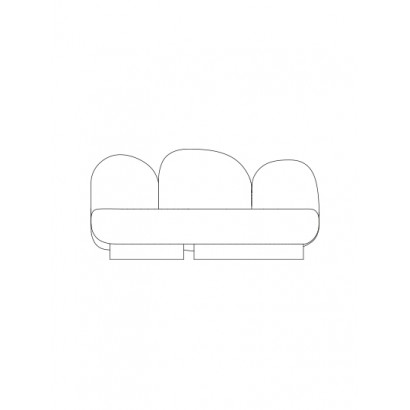 2-seat-sofa without armrest gijon green Destroyers Builders