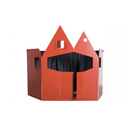 PUPPET THEATRE RED COLORED PLYWOOD