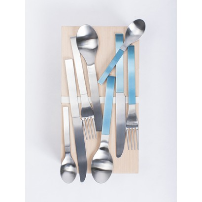 giftbox muller van severen brushed stainless, blue and steel 16 pcs Muller Van Severen