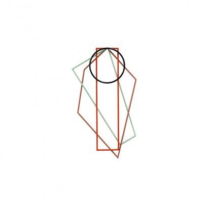 TRIVETS 50X30 LACQUERED STEEL SET/4 DIFFERENT COLOURS Muller Van Severen