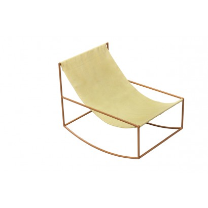 ROCKING CHAIR 81X60 H65 MUSTARD FRAME/TEXTILE YELLOW Muller Van Severen