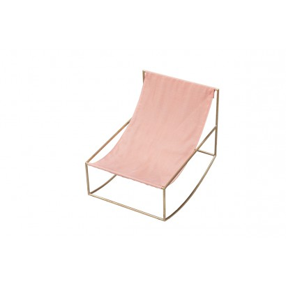 ROCKING CHAIR 81X60 H65 BRASS/TEXTILE PINK Muller Van Severen