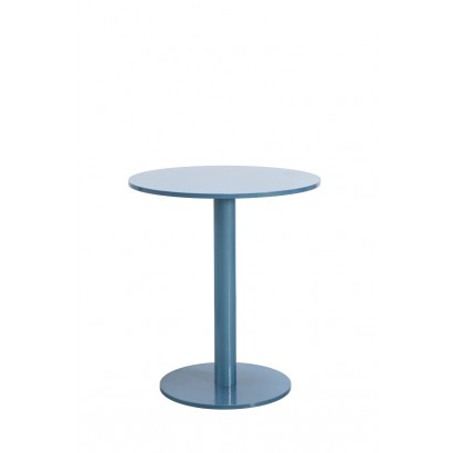 ROUND TABLE S HAMMERPAINT BLUE D65,5 H74