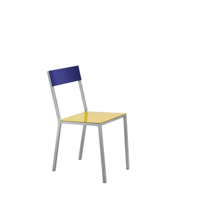 ALU CHAIR 52,5X38 H80 YELLOW SEAT /CANDY BLUE BACK Muller Van Severen