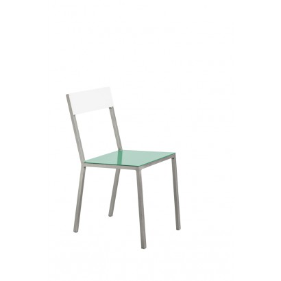 ALU CHAIR 52,5X38 H80 GREEN SEAT/WHITE BACK Muller Van Severen