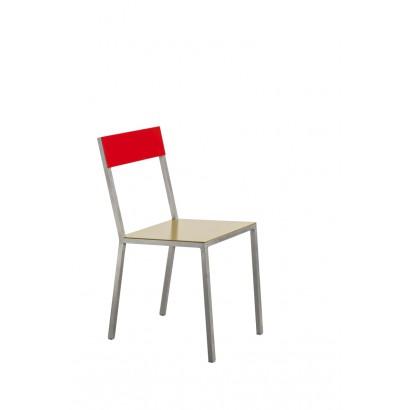 ALU CHAIR 52,5X38 H80 CURRY SEAT /RED BACK Muller Van Severen