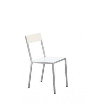 ALU CHAIR 52,5X38 H80 WHITE SEAT /IVORY BACK Muller Van Severen