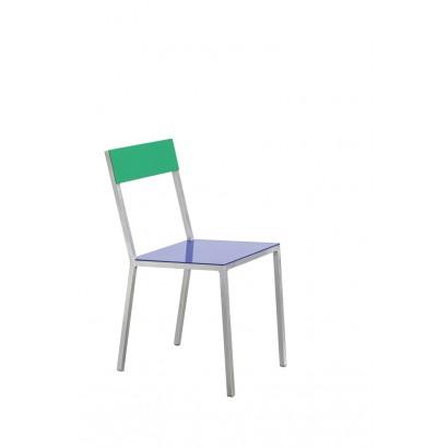 ALU CHAIR 52,5X38 H80 DARK BLUE/GREEN Muller Van Severen