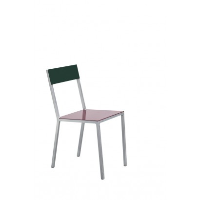 ALU CHAIR 52,5X38 H80 BORDEAUX/CANDY GREEN Muller Van Severen