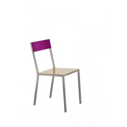 ALU CHAIR 52,5X38 H80 CURRY/CANDY PURPLE Muller Van Severen