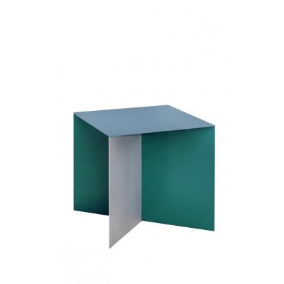 ALU SQUARE 45X45 TOP HAMMERPAINT BLUE LEG ALUMINIUM/ HAMMERPAINT GREEN