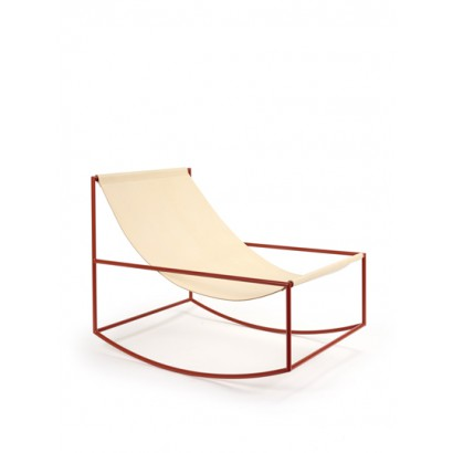 rocking chair red_leather Muller Van Severen