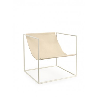 SOLO SEAT 62X62 H61 WHITE FRAME/LEATHER