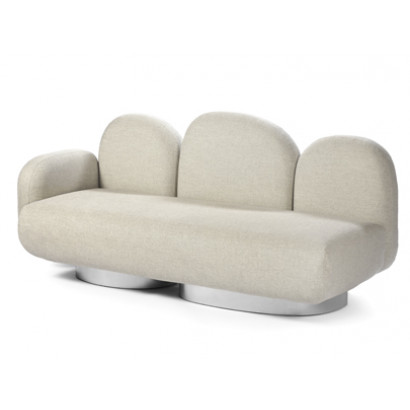 2-seat-sofa with 1 armrest left gijon sand Destroyers Builders