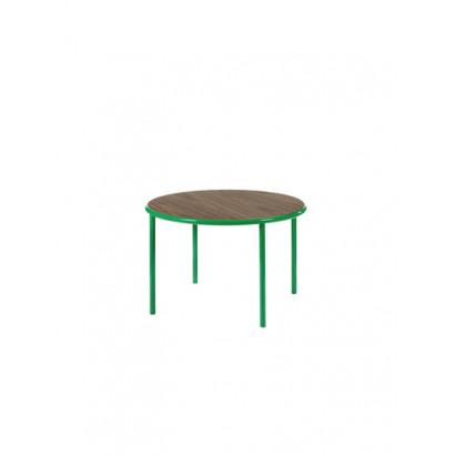 WOODEN TABLE ROUND GREEN / WALNUT Muller Van Severen