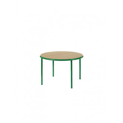 WOODEN TABLE ROUND GREEN / OAK Muller Van Severen