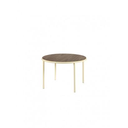 WOODEN TABLE ROUND IVORY / WALNUT Muller Van Severen