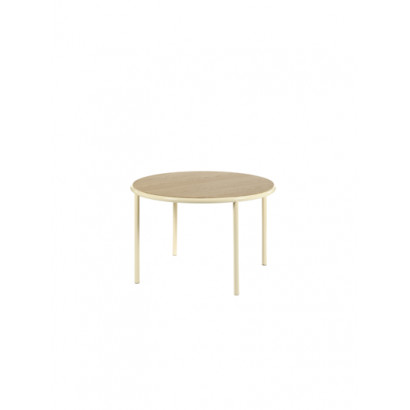 WOODEN TABLE ROUND IVORY / OAK Muller Van Severen