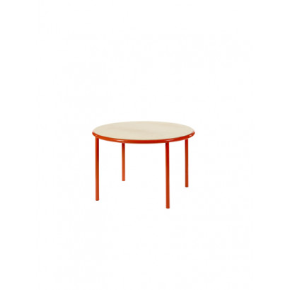 WOODEN TABLE ROUND RED / BIRCH Muller Van Severen