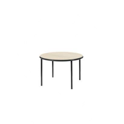 WOODEN TABLE ROUND BLACK / BIRCH Muller Van Severen