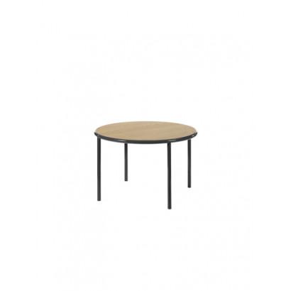 WOODEN TABLE ROUND BLACK / OAK Muller Van Severen
