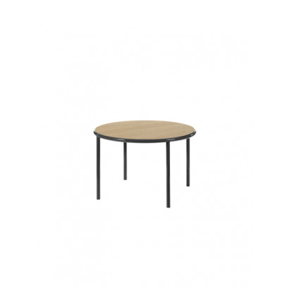 WOODEN TABLE ROUND BLACK / OAK Muller Van Severen