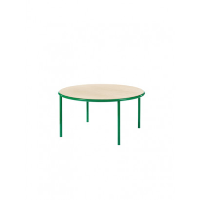 WOODEN TABLE ROUND GREEN / BIRCH Muller Van Severen