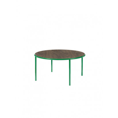 WOODEN TABLE ROUND GREEN / WALNUT Muller Van Severen
