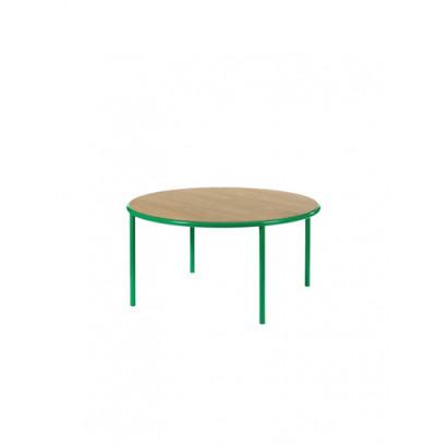 WOODEN TABLE ROUND GREEN / OAK Muller Van Severen