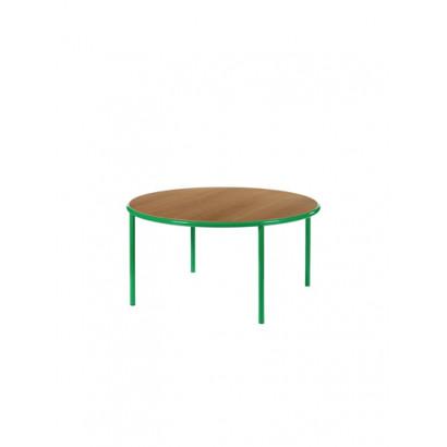 WOODEN TABLE ROUND GREEN / CHERRY Muller Van Severen