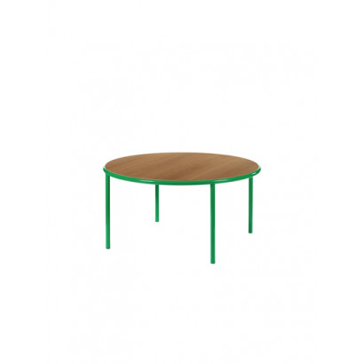WOODEN TABLE ROUND GREEN / CHERRY Muller Van Severen