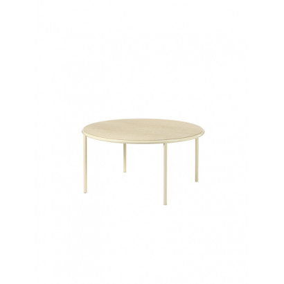 WOODEN TABLE ROUND IVORY / BIRCH Muller Van Severen