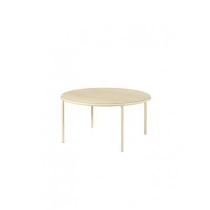 WOODEN TABLE ROUND IVORY / BIRCH Muller Van Severen