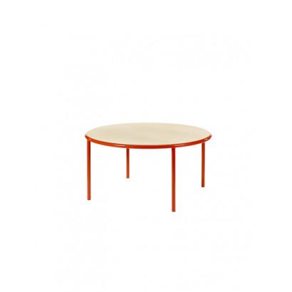 WOODEN TABLE ROUND RED / BIRCH Muller Van Severen