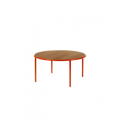 WOODEN TABLE ROUND RED / CHERRY Muller Van Severen