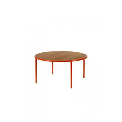 WOODEN TABLE ROUND RED / CHERRY Muller Van Severen