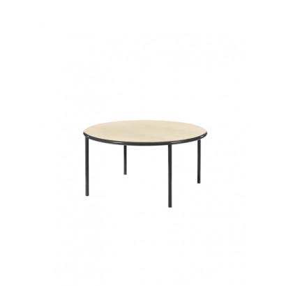 WOODEN TABLE ROUND BLACK / BIRCH Muller Van Severen