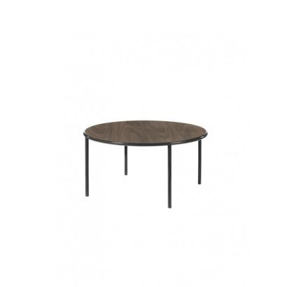 WOODEN TABLE ROUND BLACK / WALNUT Muller Van Severen