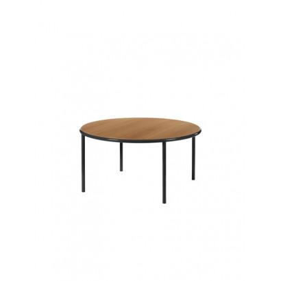 WOODEN TABLE ROUND BLACK / CHERRY Muller Van Severen