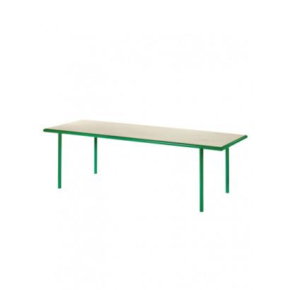 WOODEN TABLE RECTANGULAR GREEN / BIRCH Muller Van Severen